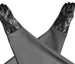 Rękawice do kabin śrutowniczych
